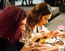 nail technicians training at Wisner LA beauty school
